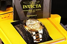 Invicta Speedway Pro 40mm Chronograph Gold Two Tone White Dial SS Bracelet Watch