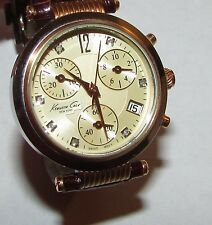 Kenneth Cole Women's Watch Swiss Mov't Chronograph Rose Gold Stainless Steel