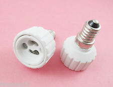 10 X E14 to GU10 Socket LED Halogen CFL Light Bulb Lamp Adapter Converter Holder