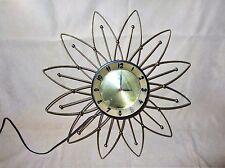 Vtg Atomic Lux Sunburst Wall Clock Mid Century Modern Starburst MCM Retro Eames