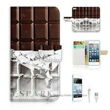 iPod Touch 5 iTouch 5 Flip Wallet Case Cover! S8191 Chocolate