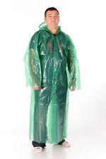 100% NEW BIG CLEAR FESTIVAL EMERGENCY PONCHO PLASTIC RAINCOAT UNISEX BUTTONS