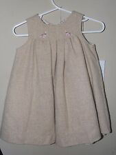 Jacadi 6m Wool Wrap Dress Flower Brown Tan Fully Lined Winter Boutique Fall