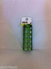 Designer Green Squares Metal Bic Lighter Holder Case Cover New