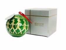 """4 1/2"""" Radio City Reverse Hand Painted Glass Ornament - Christmas Tree - Arch..."""