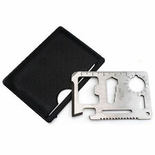 10 in 1 Outdoor Pocket Credit Card Survival Tools Multi-Purpose Camping Gadget