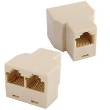 3 Port RJ45 CAT 5 6 LAN Ethernet Cable Extender Splitter Connector Adapter PC SE