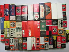 Lot of 40 recycled vacuum tube boxes : RCA, GE, Sylvania, Tung Sol, Amperex etc.