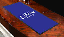 CUSTOMISED BAR RUNNER KEEP CALM YOUR ONLY 40 BLUE IDEAL FOR HOME PARTY PUB