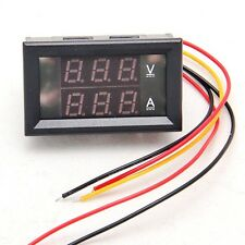DC 4.5-30V 0-50A Dual LED Digital Volt meter Ammeter Voltage AMP Power 2014