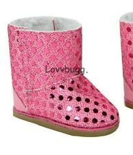 "Pink Sequins Shearling Ewe Uggly Fur Boots for 18"" American Girl  Best Selection"