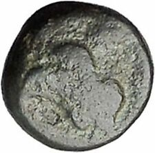 RHODES Island Off CARIA 394BC Nymph Rhodos ROSE Ancient Greek Coin i47737