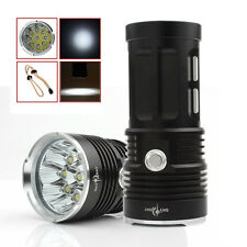 Hot 22000LM SKYRAY 9 x CREE XM-L T6 LED 3-Mode Lamp 4 x 18650 Flashlight Torch