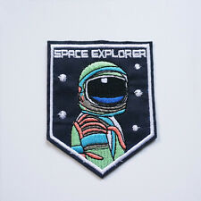Space Explorer Iron On Sew Patch NASA Applique Badge Embroidered Bag Craft DIY