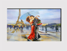 X LARGE CANVAS 18''x32'' WALL PARIS EIFFEL TOWER AVENUE LOVERS PRINT PICTURE 310