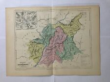 GRAVURE FRANCE ILLUSTREE DEPARTEMENT 04 BASSES ALPES 1881 MALTE BRUN CARTE TBE