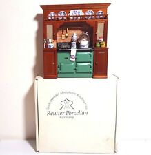 Reutter Dollhouse Blue Onion GREEN AGA Stove and Cabinet Kitchen 1.779/0 1:12