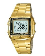 Casio Watch * DB360G-9A Databank Digital Chronograph Gold Steel COD PayPal
