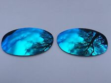 NEW POLARIZED ICE BLUE MIRRORED REPLACEMENT OAKLEY E WIRE 2.1 LENSES