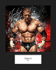 TRIPLE H #3 (WWE) Signed 10x8 Mounted Photo Print - FREE DELIVERY