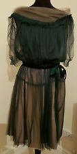 Lanvin 2006 stunning dress silk size 40/12uk