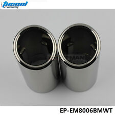 Chrome 304 Stainless Steel Exhaust Muffler Tip For BMW 325i E90/F35/F30