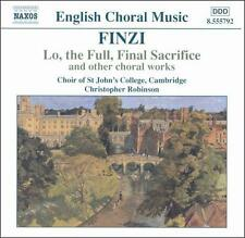 Lo the Full Final Sacrifice & Other Choral Works, New Music