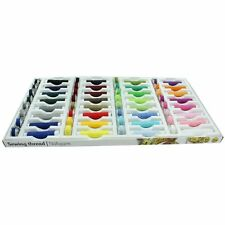 64 PIECE SEWING THREAD 100% POLYESTER COLOUR SEW THREAT SET AND BOBBINS