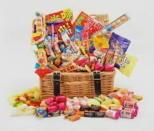The DELUXE Wicker RETRO SWEET HAMPER GIFT huge mix BIRTHDAY Thank You - New Job