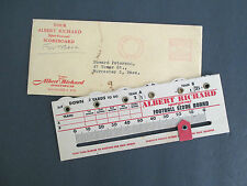 1948 ALBERT RICHARD SPORTSWEAR Football Scoreboard with Mailer