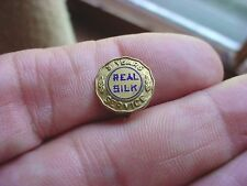 Vintage Antique 1930s REAL SILK Company 3 Years Service Lapel Pin Pin-back