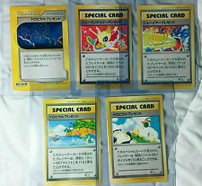 Complete Pokemon Card Fan Club Jumbo Set 5x - GET Promo Card, Point Prize Gift