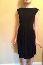 Womens Vintage Little Black Dress Audrey Hepburn Low Back Flapper Detail Size 4?