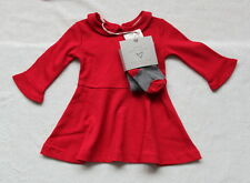 ***BNWT Next baby girl Red twirly dress and tights set 3-6 months***