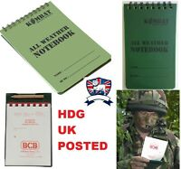 WATERPROOF NOTEBOOK NOTEPAD COVER KOMBAT UK BCB ARMY DESIGN TA CADET SCOUT DofE