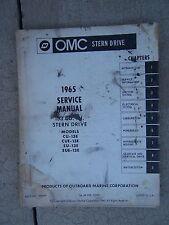 1965 OMC Stern Drive 153 Cu. In. Service Manual CU CUE SU SUE - 13E Boat U