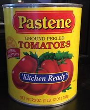 Pastene Kitchen Ready Ground Peeled Tomato Sauce 28 Oz Can Food Grocery