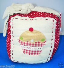 FABRIC CUPCAKE DOOR STOP STOPPER NOVELTY WEDGE COUNTRY COTTAGE HOME HOUSE