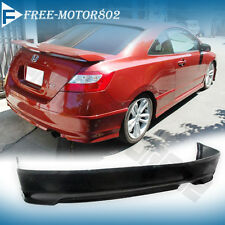 FOR 06-11 HONDA CIVIC COUPE 2DOOR HFP STYLE URETHANE PU REAR BUMPER LIP SPOILER