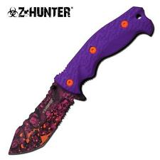 Z-Hunter Skull Purple Zombie Spring Assist Assisted Knife Knives #114PE