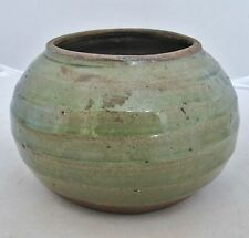 "SONG / YUAN Dynasty ? Antique Chinese Celadon Green Glazed Squat Vase  (5.7"")"