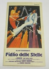 """VECCHIO ADESIVO /Old Sticker _Film """"FIGLIO DELLE STELLE"""" ALAN SORRENTI (cm 7x12)"""