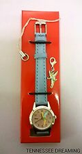 AVON 2005 TINKER BELL WATCH WITH CHARM GIFT SET NEW