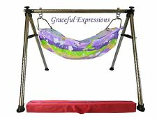 Purple Newborn Baby Nursery Cradle Swing Ghodiyu with Hammock-Quick Set-Up