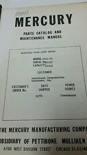 MERCURY ELECTRIC FORK LIFT TRUCK MODEL 6001-15 MAINTENANCE MANUAL
