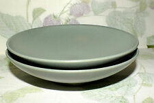 MIKASA POTTER'S ART STONE GLAZE SAGE GREEN COUPE CEREAL SOUP BOWLS  2  EXC