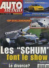 AUTO HEBDO n°1301 du 1er Août 2001 GP ALLEMAGNE MASERATI SPYDER