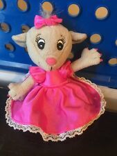 """Tommy Nelson Plush Mouse Pink Dress Bow Nails 6.5"""""""