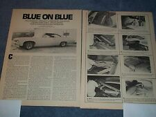 """How-to Info Article 1967 Chevy Impala Lowrider Custom Interior """"Blue on Blue"""""""