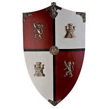 Lámina-Inglés De Caballero Escudo (imagen Cartel Armour Espada León Castillo)